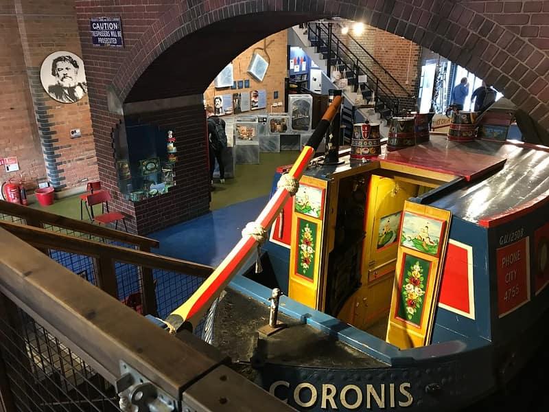 Inside London Canal Museum.