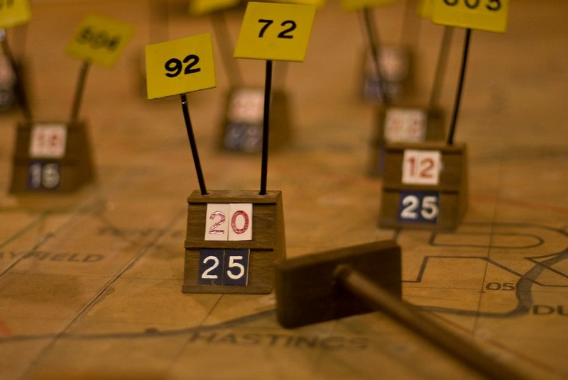 Close up of a display at the Battle of Britain Bunker.