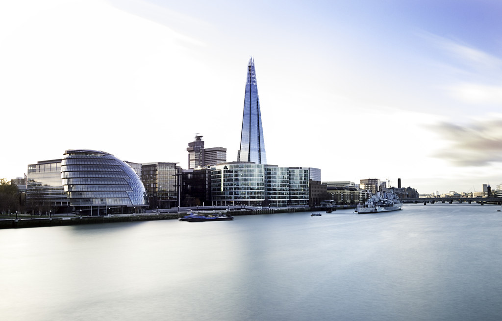 View of London Bridge and The Shard.