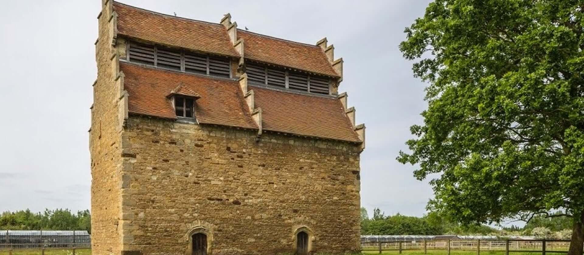 The exterior of the Willington Dovecote.