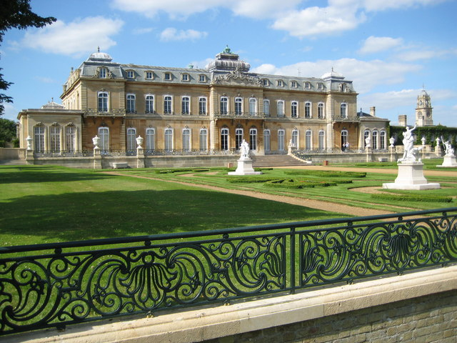 The southern front of Wrest Park House.