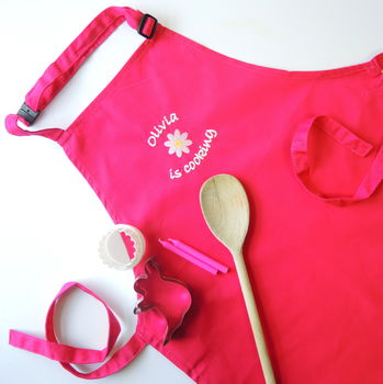 The Alphabet Gift Shop Kids' Personalised Embroidered Apron.