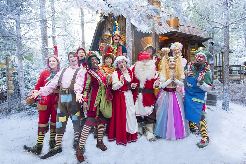 Characters at Lapland UK.
