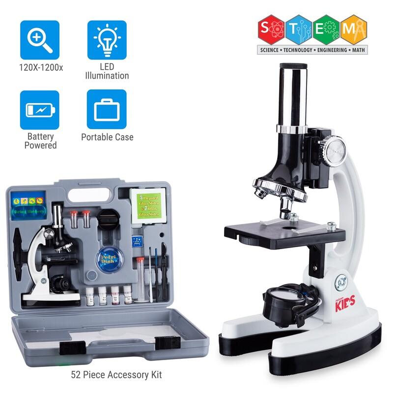 Amscope Kids' Beginner Microscope STEM Kit.