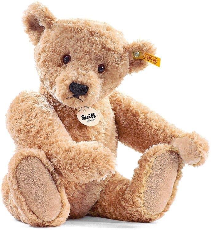 Steiff Elmar brown Teddy Bear with signature label in its ear.