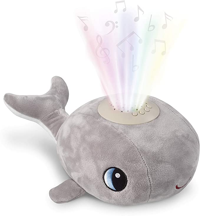 Cacchino Whale Sleep Aid soft toy with light and music.