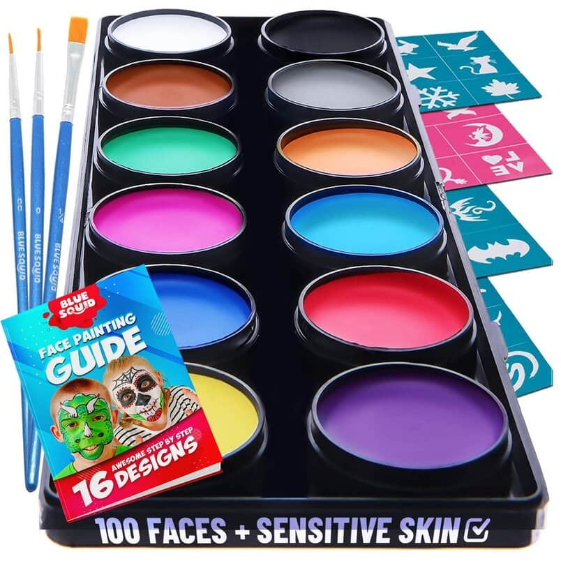 Blue Squid Face Paint Kit for Kids.