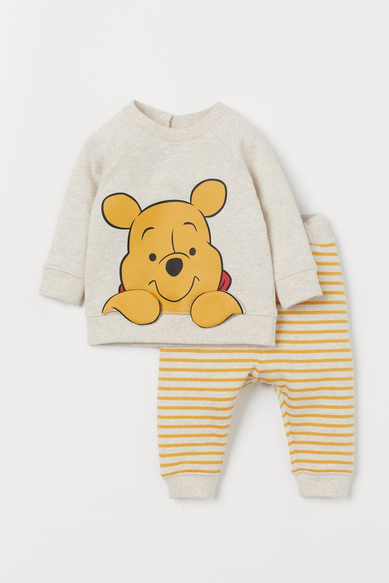 H&M Beige Marl Winnie The Pooh Tracksuit