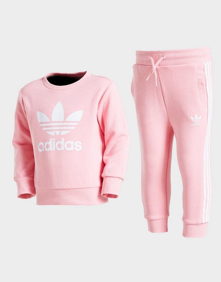Adidas Originals Girls' Trefoil Crew Tracksuit Infant.