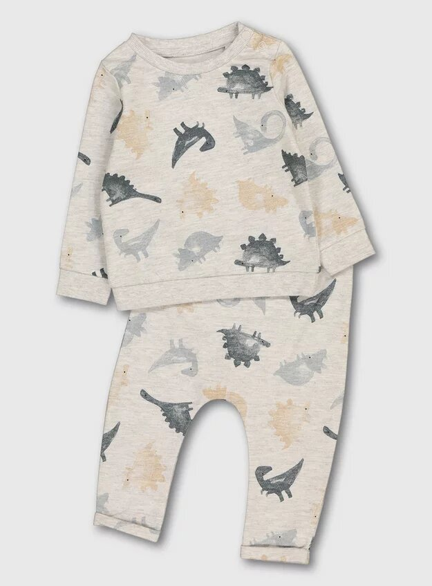 Tu Clothing Watercolour Dinosaur Print Jogger Set