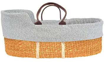 moKee Natural Moses Basket Seagrass.