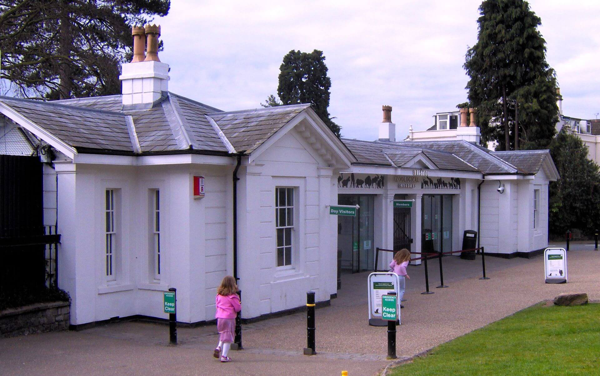 The main entrance of Bristol Zoo Gardens.