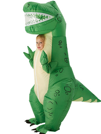 Kids' Inflatable Rex Toy Story Costume.