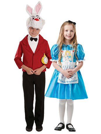 Kids' Alice & Rabbit Couples Costume.