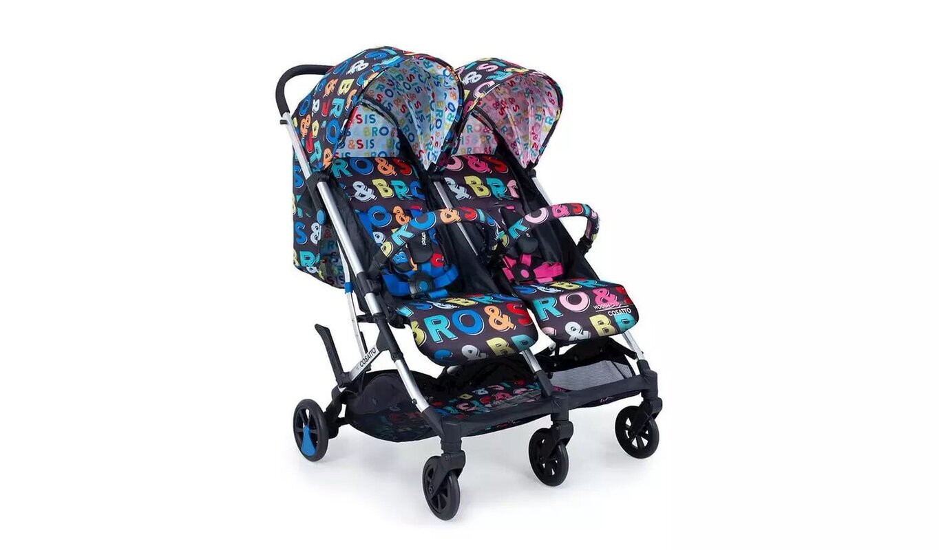 Cosatto Woosh Double Stroller - Bro and Sis.