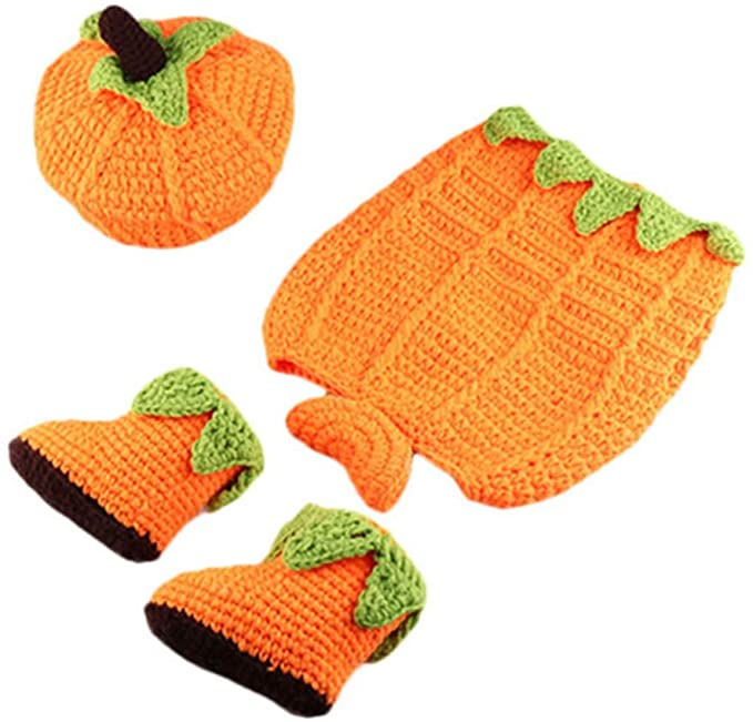 Knitted Baby Pumpkin Costume from Amazon.