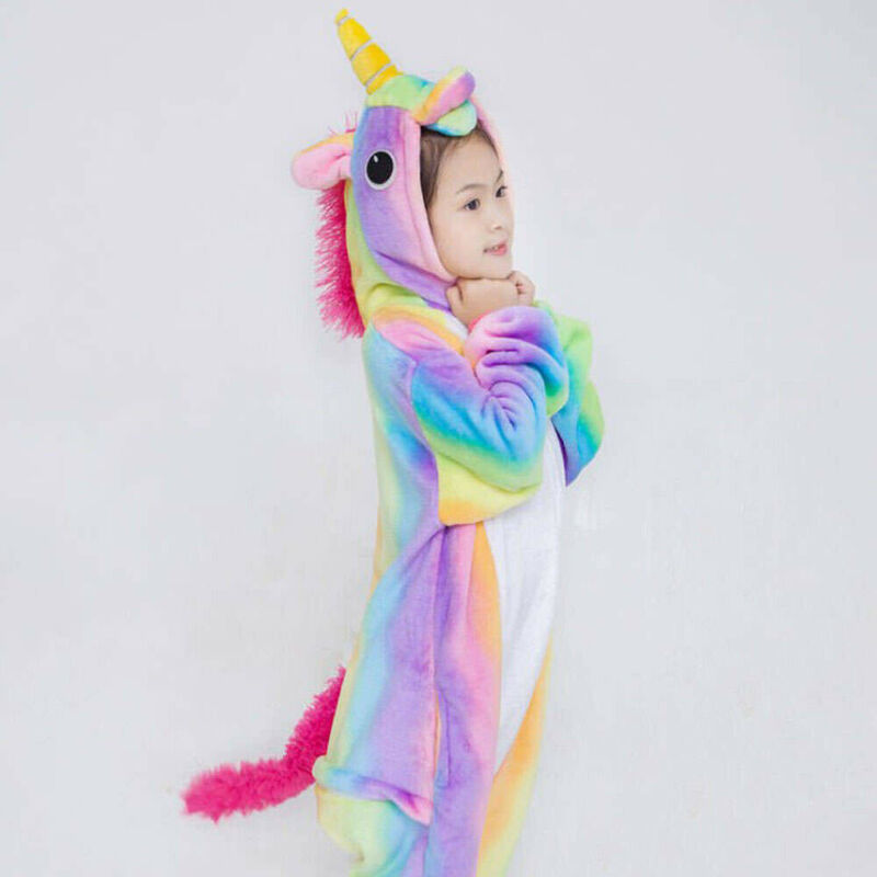 Kids' Unicorn Kigurumi Animal Cosplay Costume - eBay