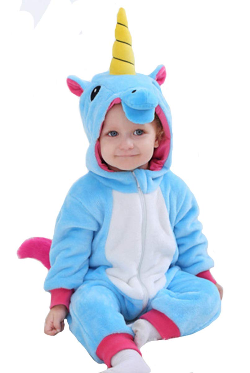 Doladola Baby Boys Girls Flannel Animal Hooded Unicorn Rompers - Amazon.