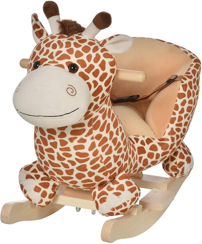 HOMCOM Kids' Rocking Horse Toys Giraffe.