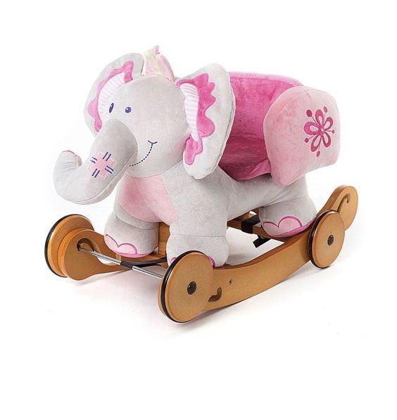 Labebe Baby Rocking Horse Elephant Rocker With Wheels.