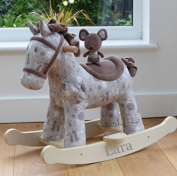 Lime Tree London Personalised Rocking Horse With Mouse.
