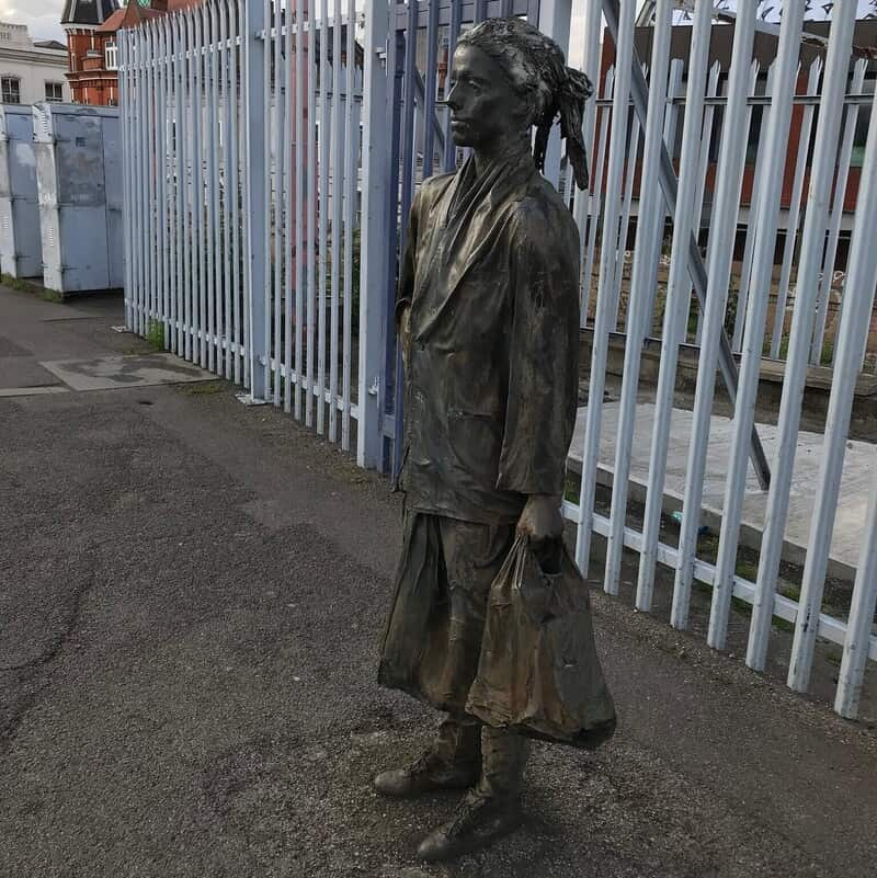 Statue of a woman at Brixton Station.