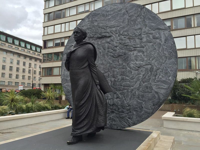 Statue of Mary Seacole.