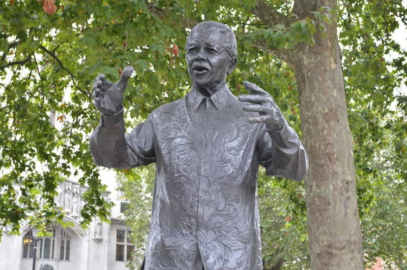 Statue of Nelson Mandela at Parliament Square.