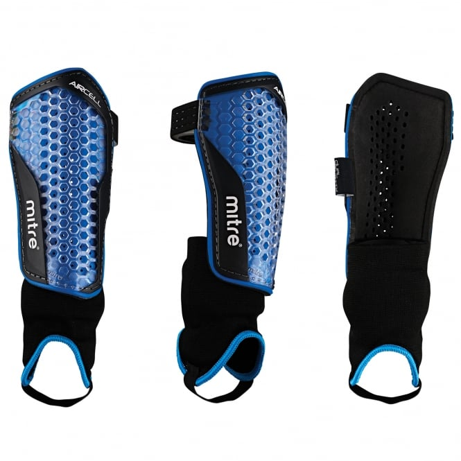 Mitre Aircell Power Ankle Protect Football Shin Pads