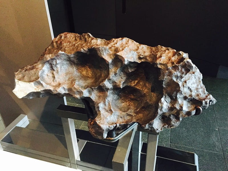 A 4.5 billion year old meteorite on display at the Royal Observatory Greenwich, the oldest object in London.