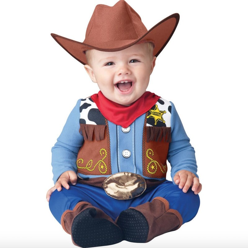Time To Dress Up baby's cowboy costume.