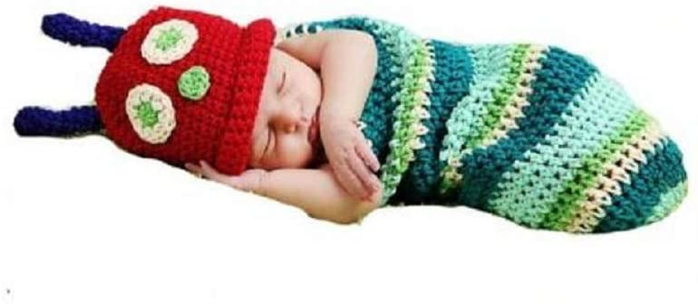 Hungry Caterpillar knitted baby outfit.