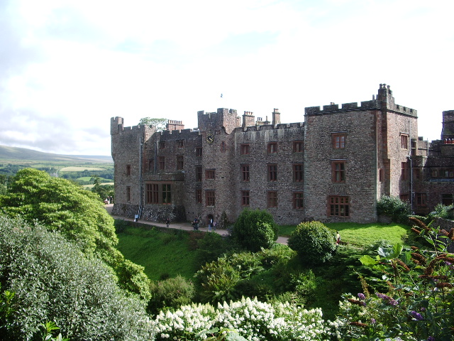 Muncaster Castle near Ravenglass on a clear day.