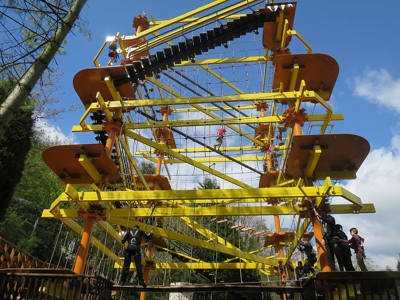 Gulliver's Kingdom yellow Crows Nest Quest climbing frame.