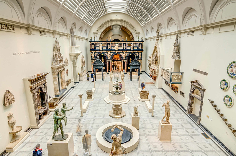 Interior of V&A Museum in South Kensington.