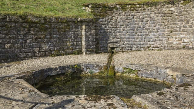 The Nymphaeum water shrine demonstrates the changing religion of the people who lived there.