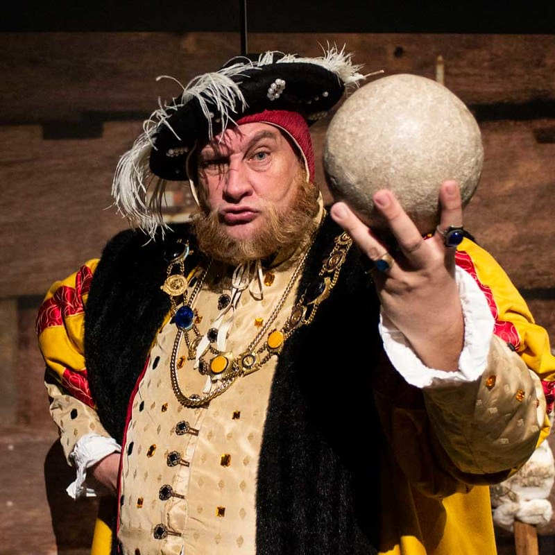 A character actor playing Henry VIII at The Mary Rose.