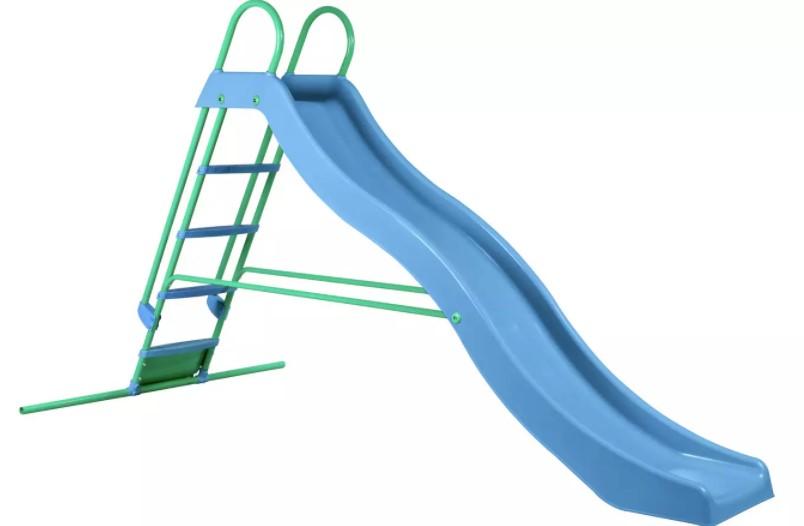 Wavy garden slide kids will love.