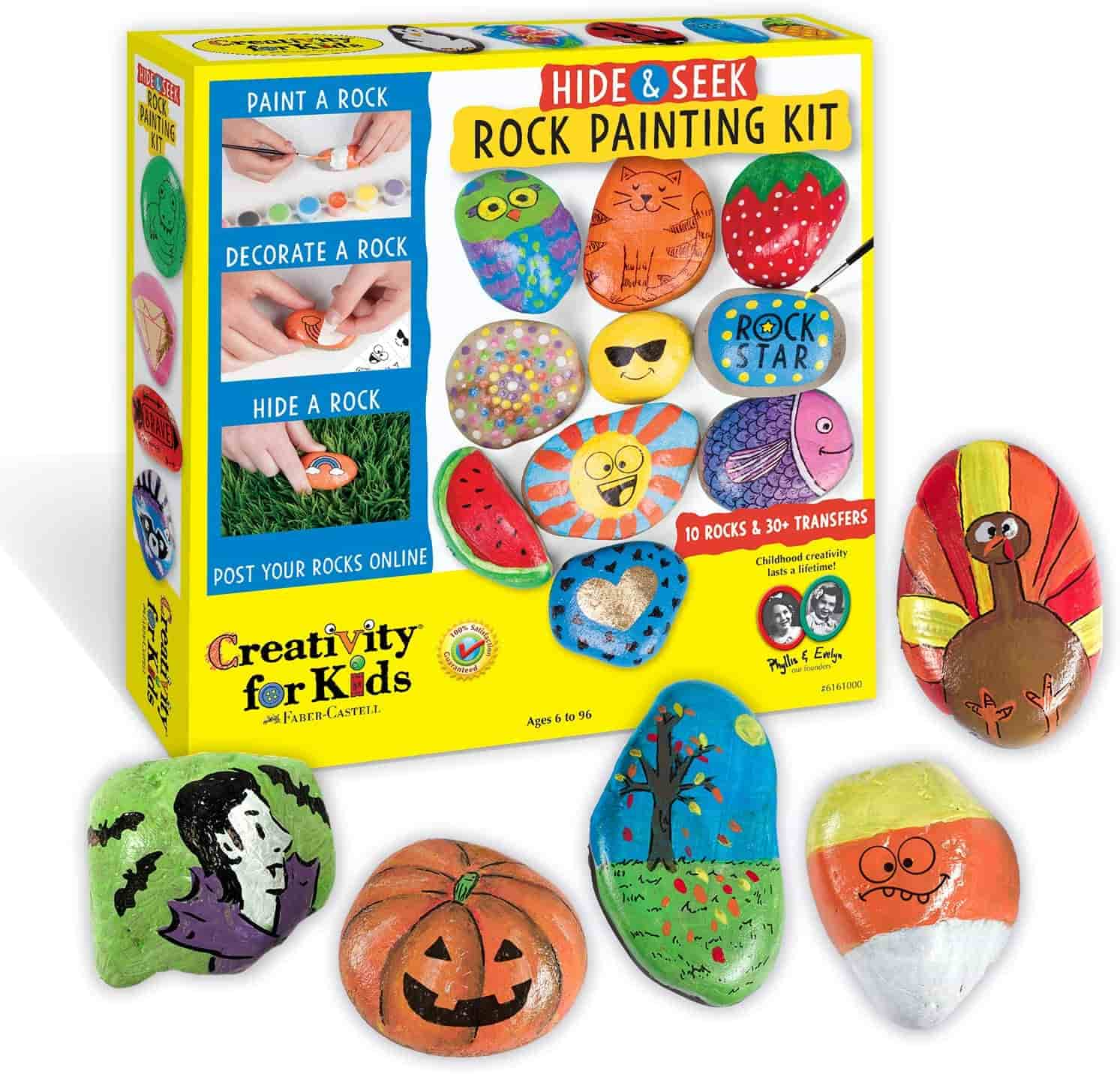 Rock painting activity for 7 years old kids.