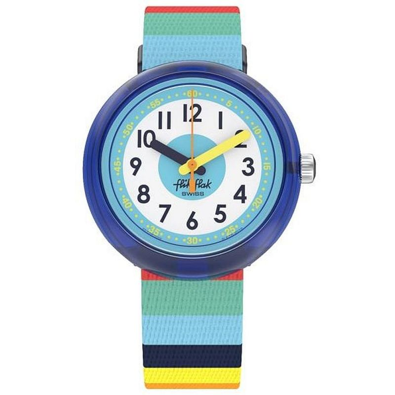 Childrens Flik Flak Stripybow watch from Mystical Woods collection.