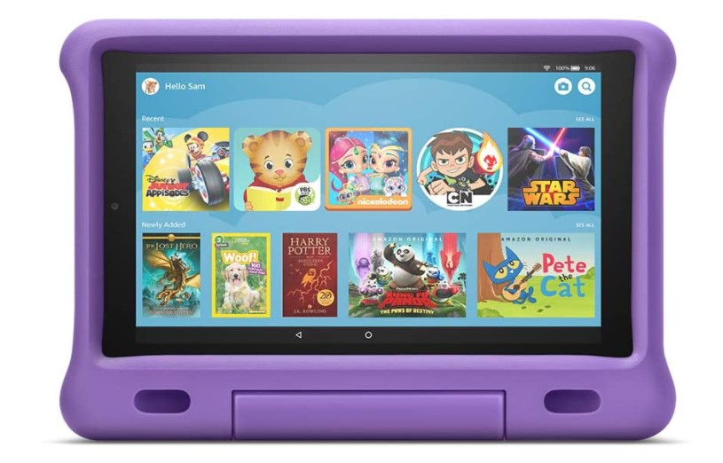 Full-featured kids edition tablet.