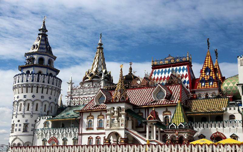 The Izmailovo Kremlin in Moscow, a Russian city.
