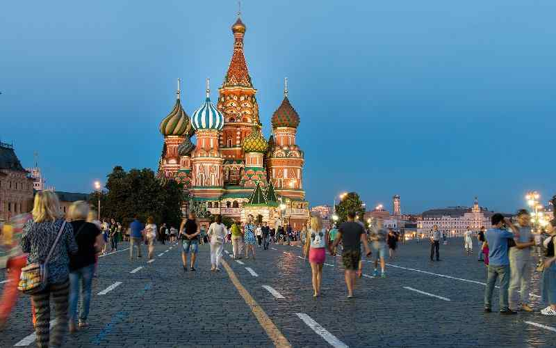 Moscow Red Square, Russia's tourist spot.