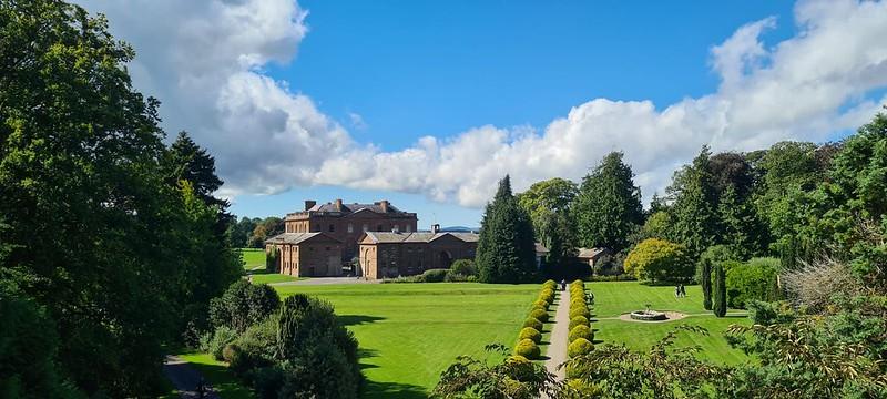 Landscape green gardens at Berrington Hall.