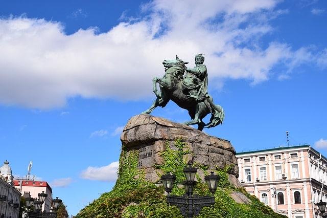 A popular Ukrainian statue.