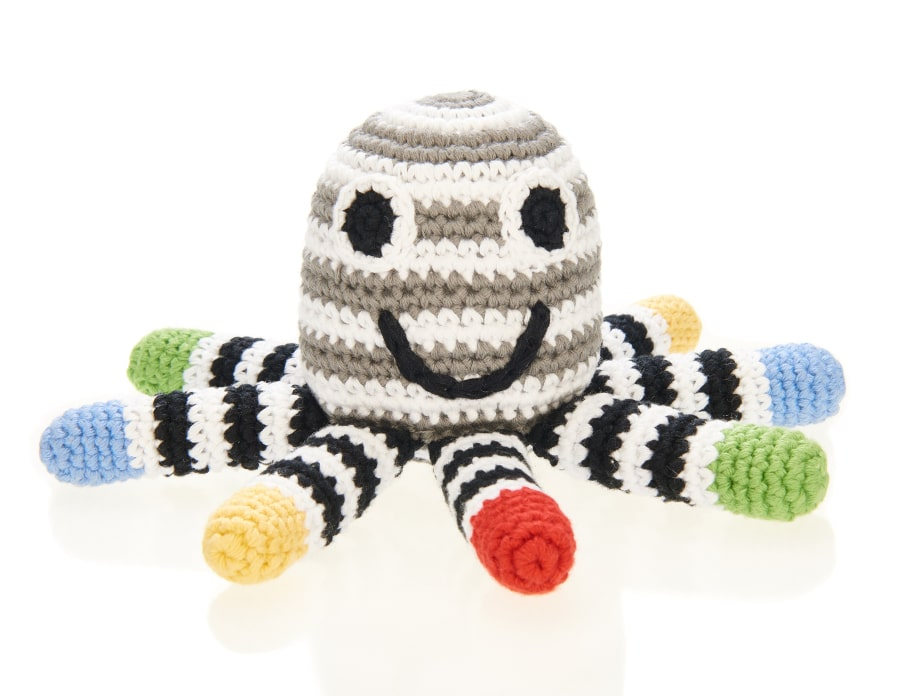 A cute and happy octopus for newborn babies.