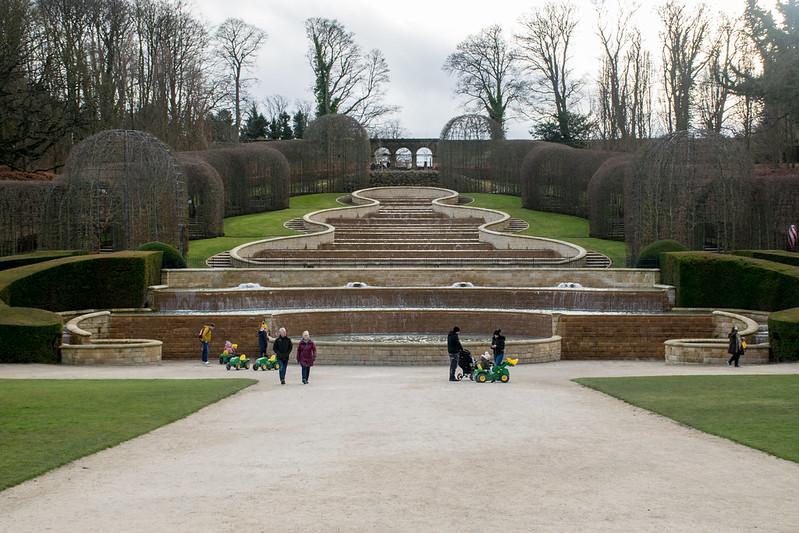 The Grand Cascade at Alnwick Garden.