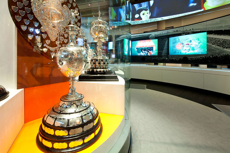 Trophies at National Football Museum.