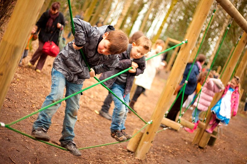 Children playing at Tatton Park Playground.