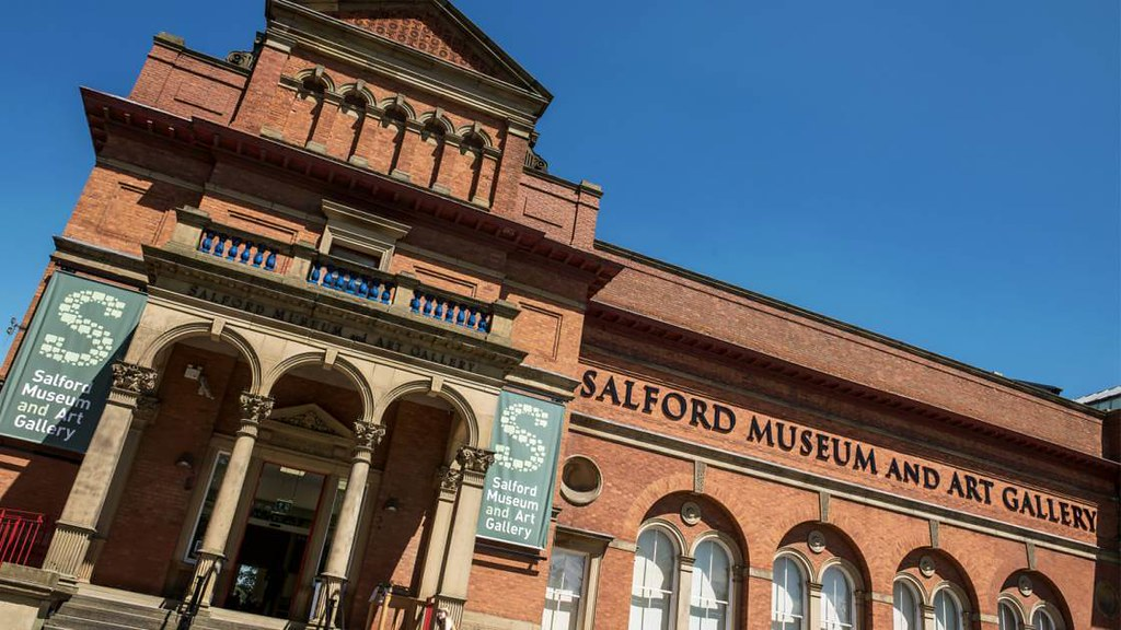 Outside perspective of Salford Museum and Art Gallery.
